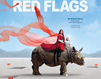 Magazine Page Design and Photo Illustration