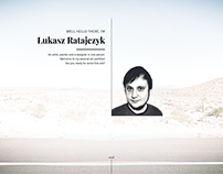 Lukaszratajczyk.com Design