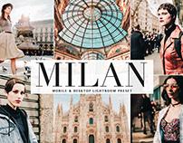 Free Milan Mobile & Desktop Lightroom Preset