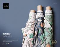 Fabric Rolls Mockup Set (09/FFv.11)