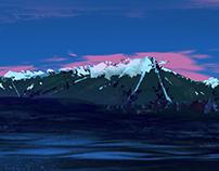 Environmental Digital Painting - Mountain Color Study
