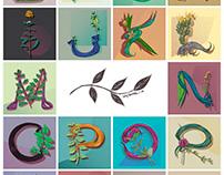 36 Days of Type (Native plants of Córdoba)