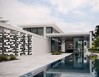 Uncluttered Concrete Poolside