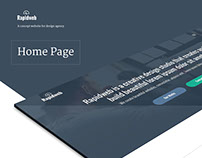 Rapidweb Design Agency (concept) - Homepage