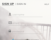 SIGN UP: DAILY UI 001