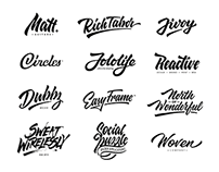 Lettering logotypes , compilation 2