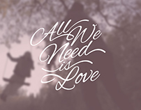 Romantic Calligraphic Background