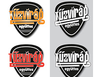 Tűzvirág music band logo, business card and rollup