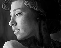 Vanessa Kirby Digital Painting