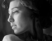 Vanessa Kirby Digital Painting