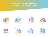 Entertainment Icons & Illustrations