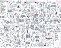 Minsk Protest Map Poster