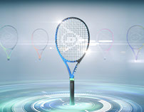 The Dunlop iDapt Tennis Racquet