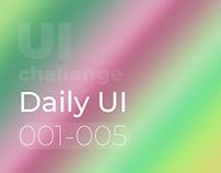 Daily UI Challenge 001-005