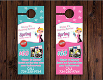 Cleaning Service Door hanger Design