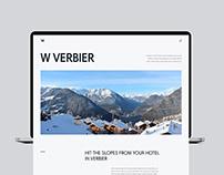 W Verbier redesign website