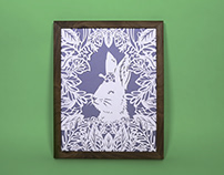 Tortoise and Hare Papercut