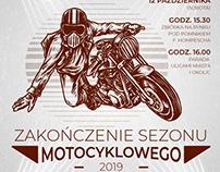 Zakończenie sezonu motocyklowego - projekt plakatu