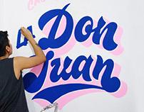 Lettering Mural / La Don Juan