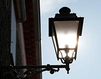 sun in a lamp