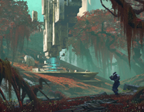 Waterway concept for Nessus in Destiny 2.
