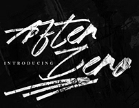 Free After Zero Textured Brush Font