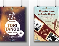 POSTERS DESIGN for Acency for tourism and culture