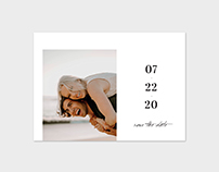 Save the Date Photo Card Template - Bold Date