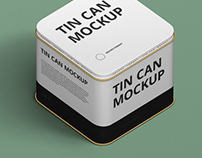 Tin Can Mockup Square