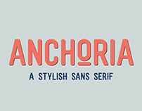 ANCHORIA — A Stylish Sans Serif with Extras