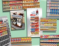 In-Store Environment - 3d Renderings