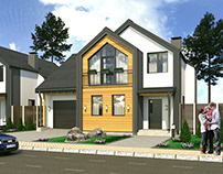 Build a house in 3d max.