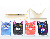 We Love Cats - ArtPostcards