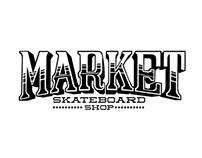 Market Skateshop Lettering and Deck