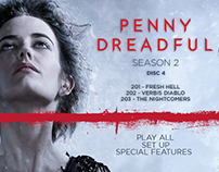 PENNY DREADFUL, MENU DESIGN