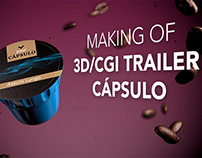 CGI 3D making of animated coffee commercial