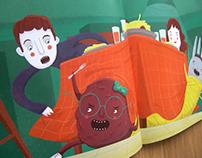 Libro Álbum: Mi papá les tiene miedo a los monstruos