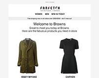 Farfetch Email Template Design
