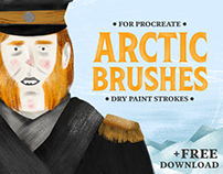 Arctic Dry Brushes for Procreate + FREE BRUSHES