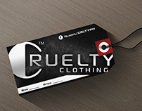 Cruelty Clothing Hangtag Design