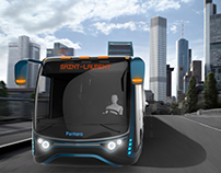 Pantero an articulated electric urban tram-bus concept.