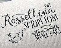 Rossellina script font