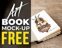 FREE Art Book Realistic Mock-up