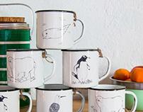 Illustrated Enamel Mugs