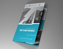 Indesign Template A4 trifold brochure
