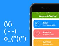 TextPics iOS app