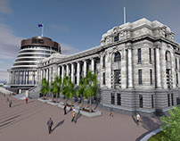 Parliament NZ 3d Model