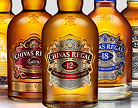 3D bottles of Chivas Collection to the official website