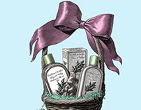 Crabtree & Evelyn Easter Illustration
