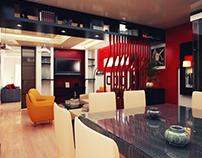 Red Modern Interior